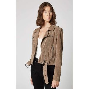 Blank NYC Cropped Suede Leather Moto Jacket NWT